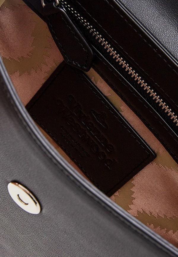 Фото 5 - женскую сумку Vivienne Westwood черного цвета