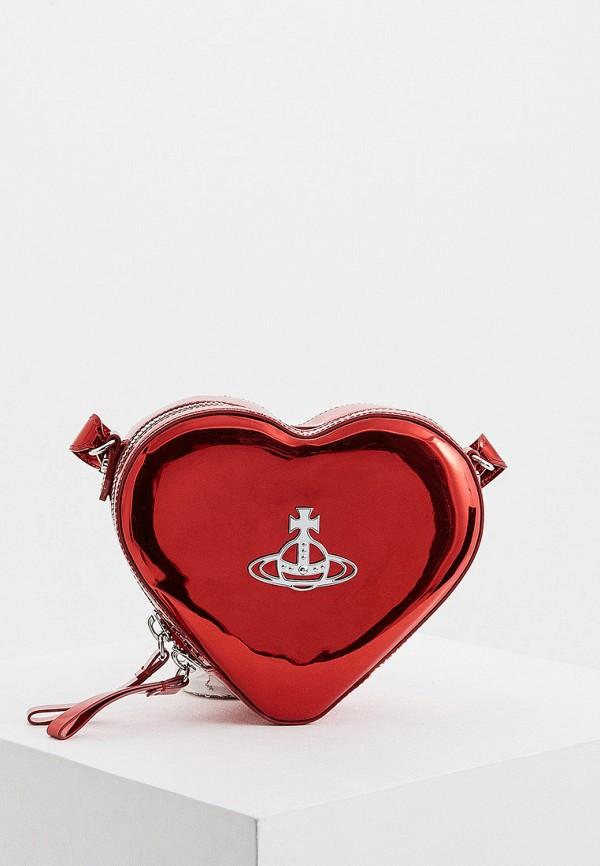 женская сумка vivienne westwood, красная