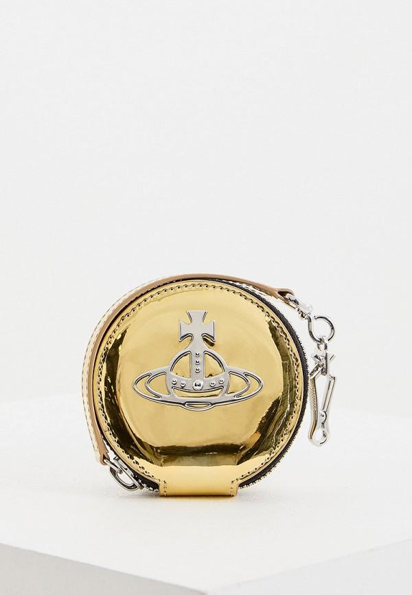 женский кошелёк vivienne westwood, золотой
