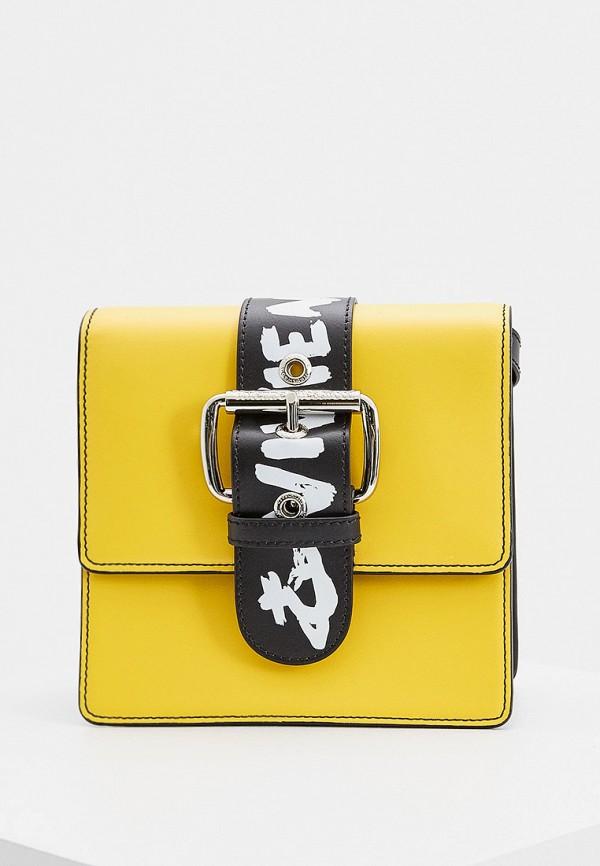 женская сумка через плечо vivienne westwood, желтая