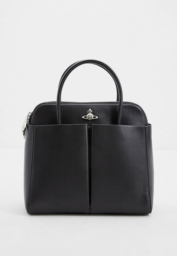 женская сумка с ручками vivienne westwood, черная