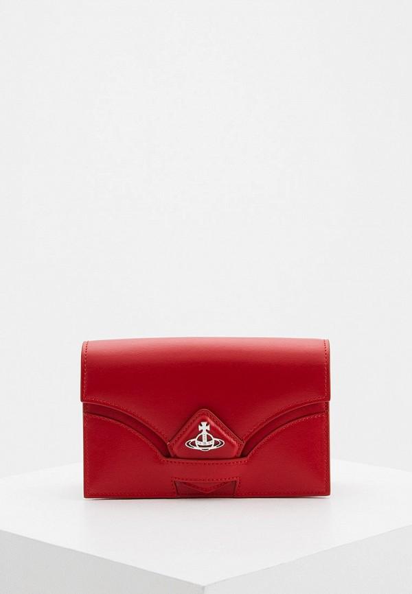 женская сумка через плечо vivienne westwood, красная