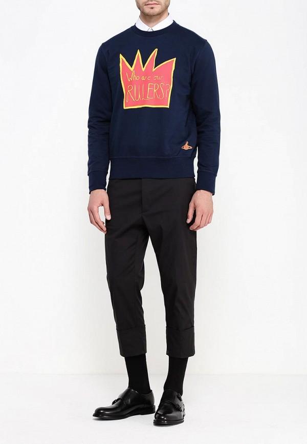 Фото 2 - мужские брюки Vivienne Westwood Man черного цвета