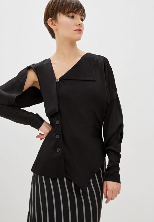 женская блузка с длинным рукавом vivienne westwood, черная