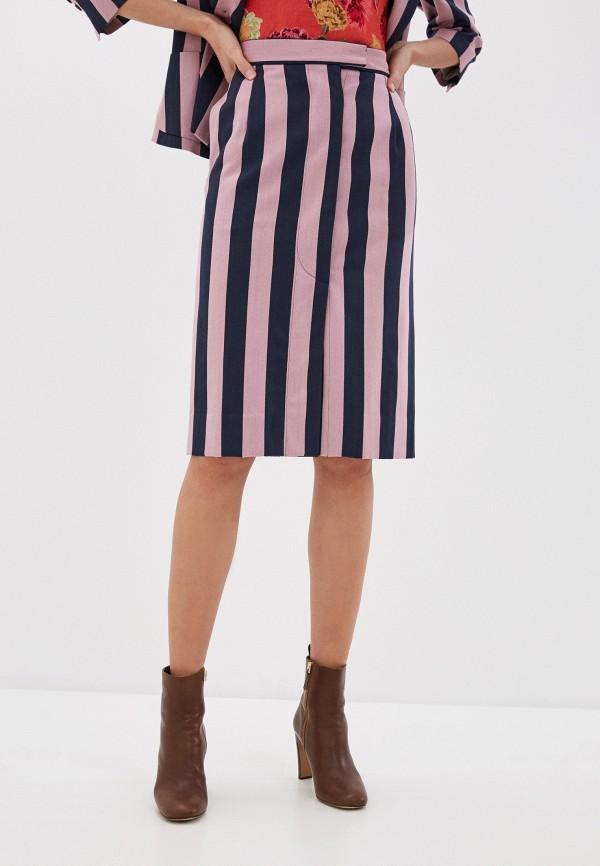 женская прямые юбка vivienne westwood, розовая