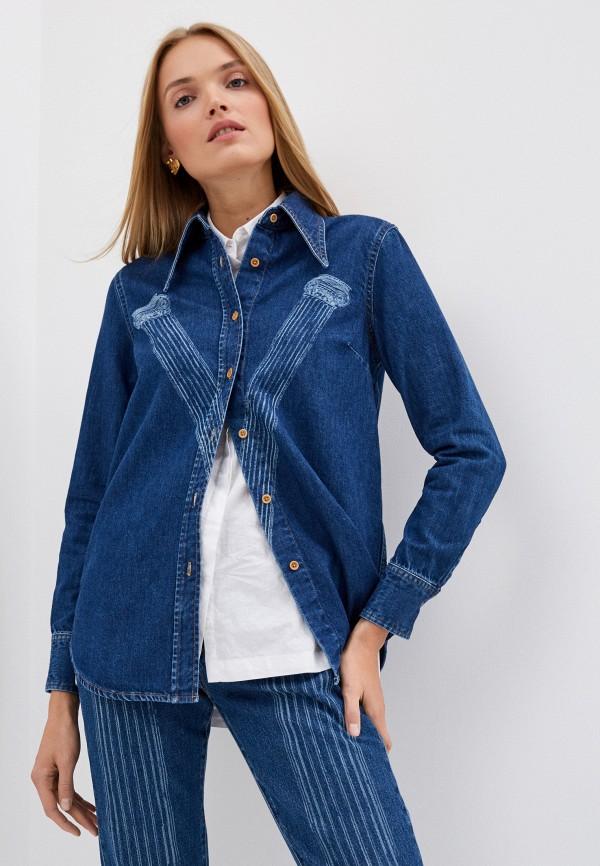 женская джинсовые рубашка vivienne westwood, синяя