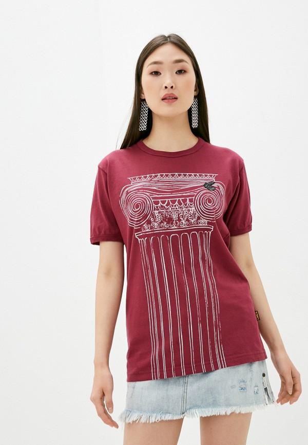 женская футболка vivienne westwood, бордовая