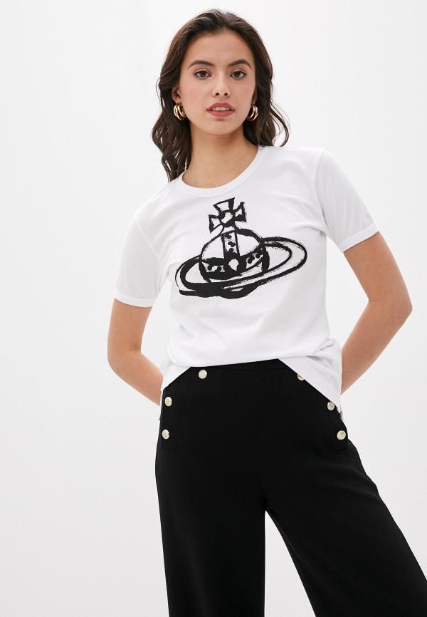 женская футболка vivienne westwood, белая