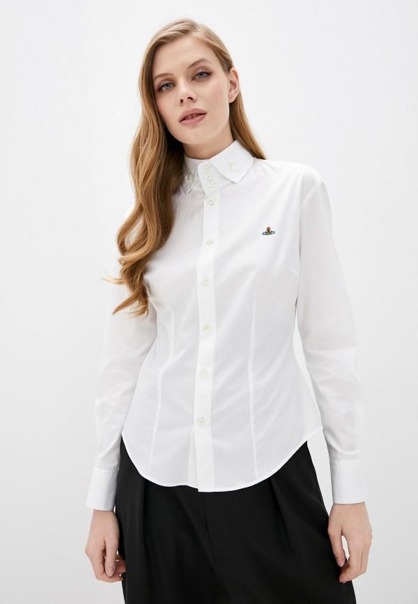 женская рубашка с длинным рукавом vivienne westwood, белая