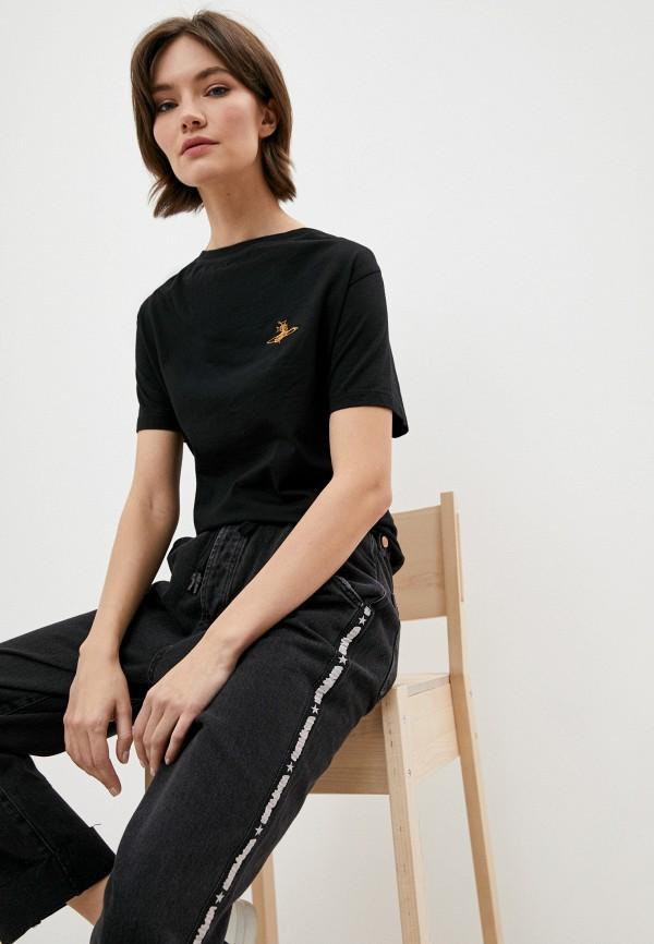 женская футболка vivienne westwood, черная