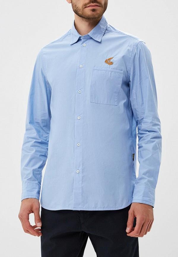 мужская рубашка с длинным рукавом vivienne westwood anglomania, голубая