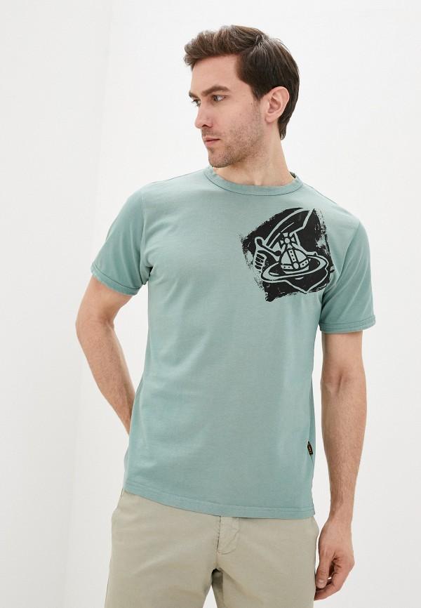 мужская футболка vivienne westwood anglomania, голубая