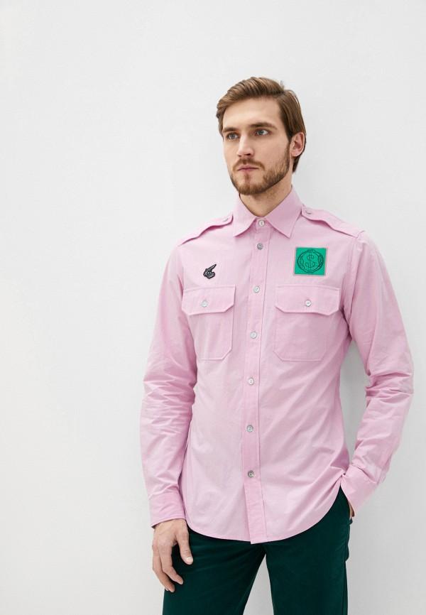 мужская рубашка с длинным рукавом vivienne westwood anglomania, розовая