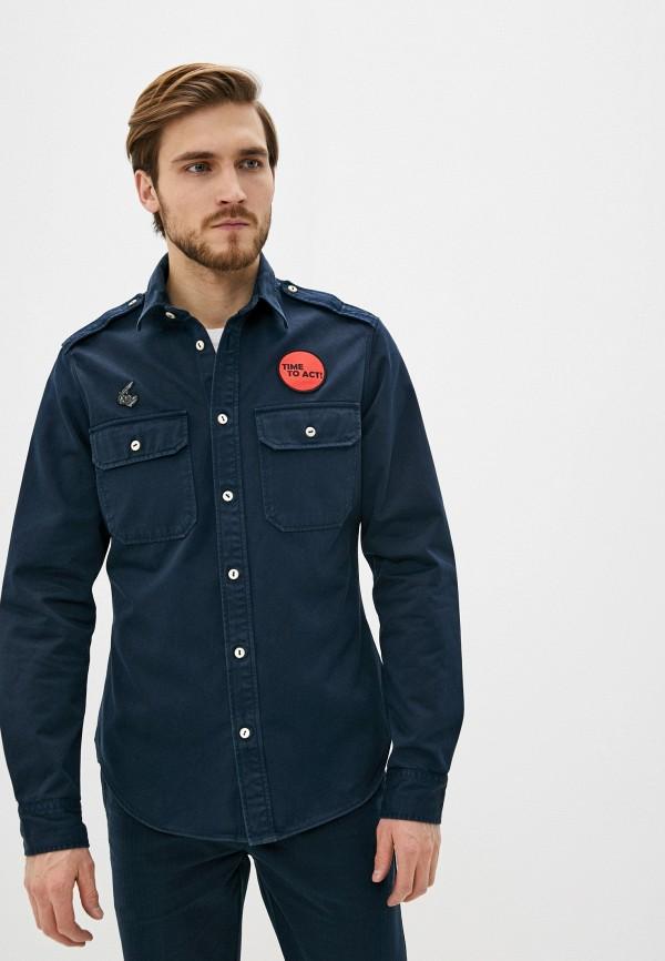 мужская рубашка с длинным рукавом vivienne westwood anglomania, синяя