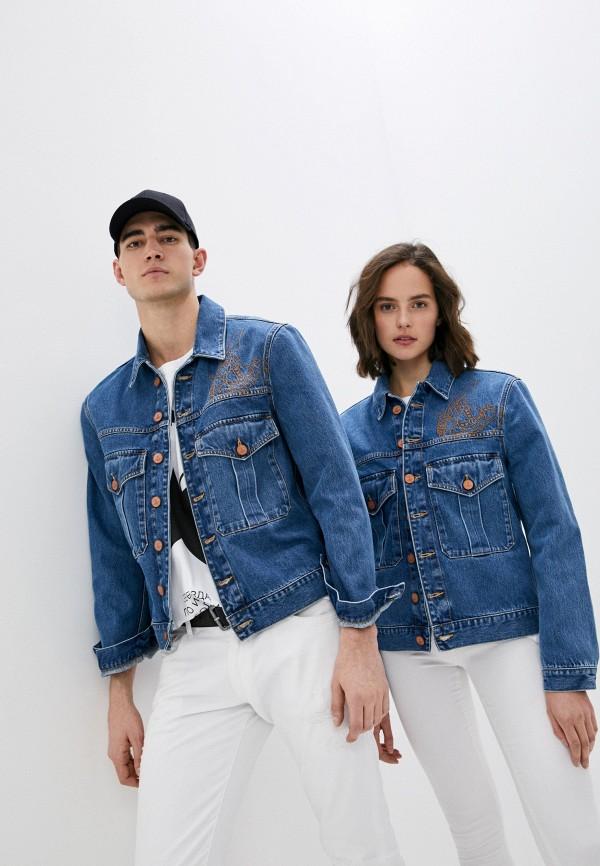 женская джинсовые куртка vivienne westwood anglomania, синяя