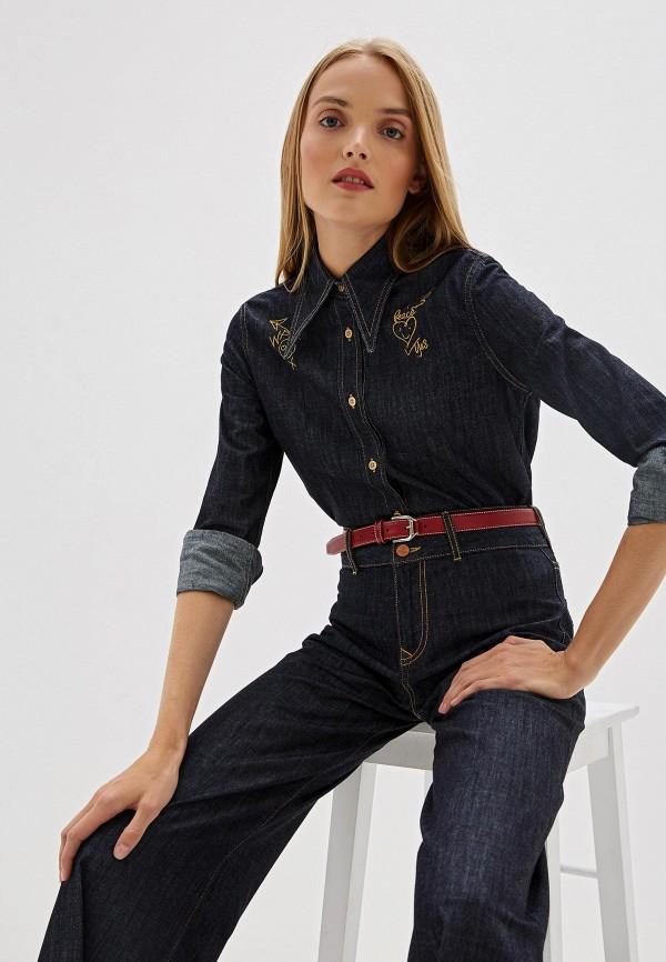 женская джинсовые рубашка vivienne westwood anglomania, синяя