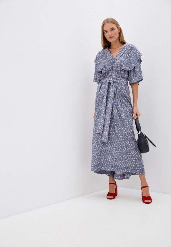 женское вечерние платье vivienne westwood anglomania, голубое