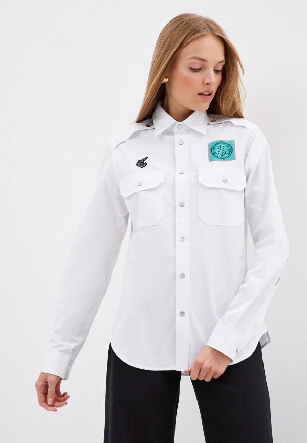 женская рубашка с длинным рукавом vivienne westwood anglomania, белая