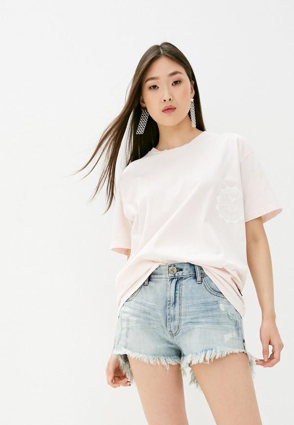 женская футболка vivienne westwood anglomania, розовая