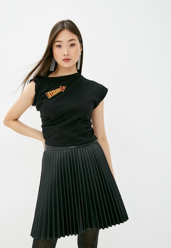 женская футболка vivienne westwood anglomania, черная