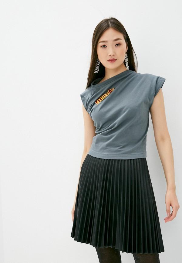 женская футболка vivienne westwood anglomania, серая