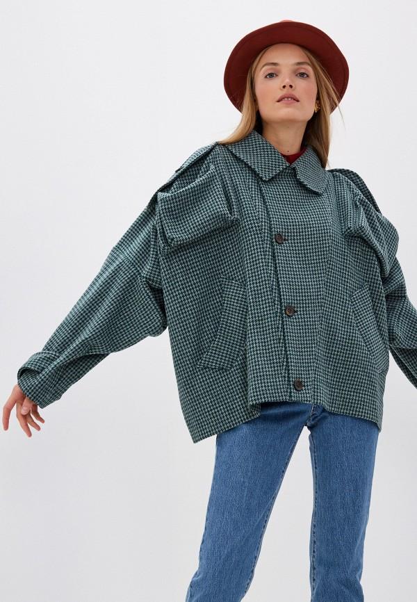 женское пальто vivienne westwood anglomania, зеленое