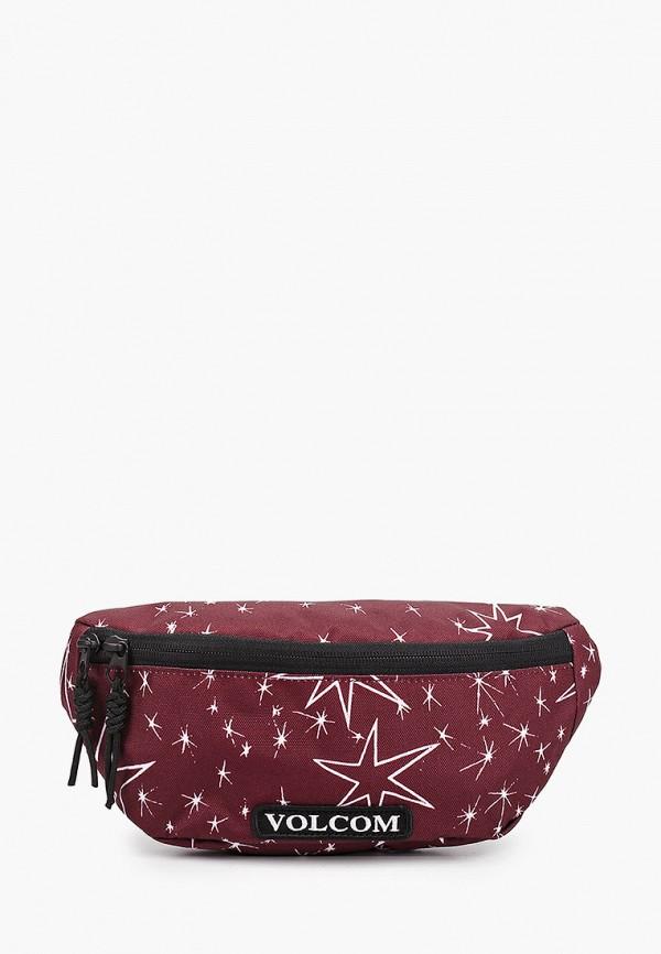 мужская сумка volcom, бордовая