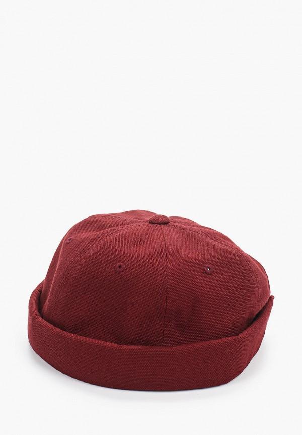 мужская шапка volcom, бордовая