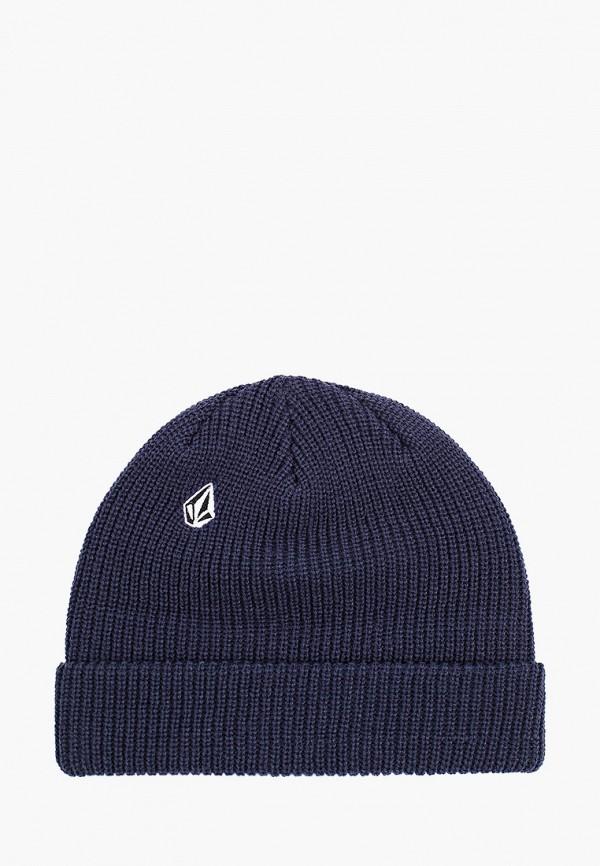 женская шапка volcom, синяя
