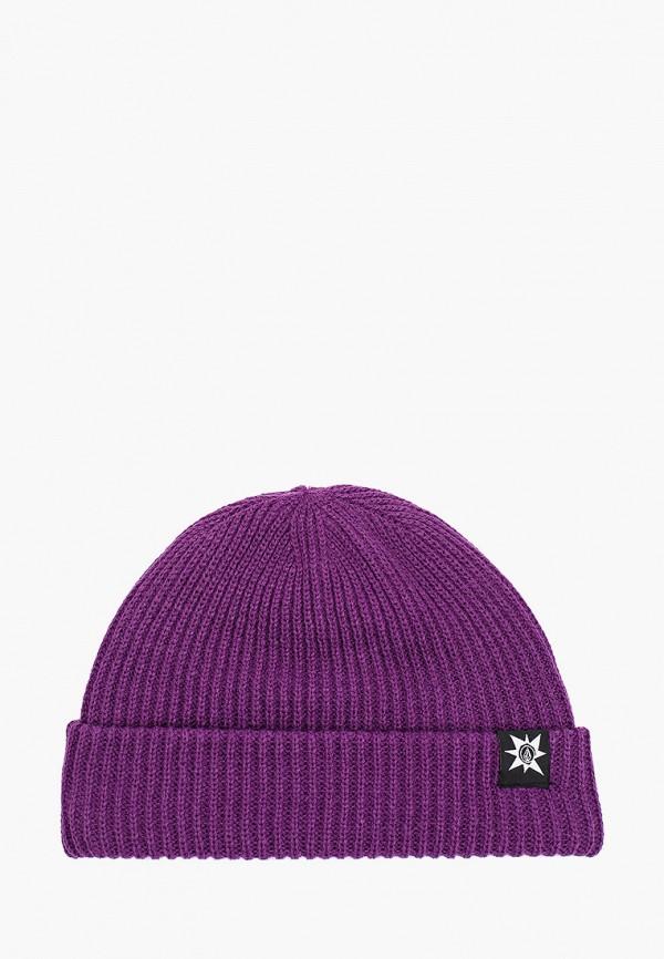женская шапка volcom, фиолетовая