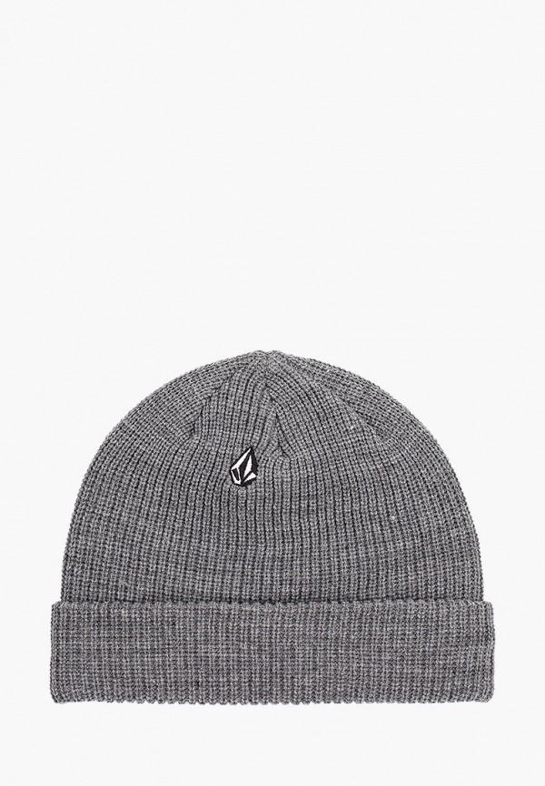 женская шапка volcom, серая