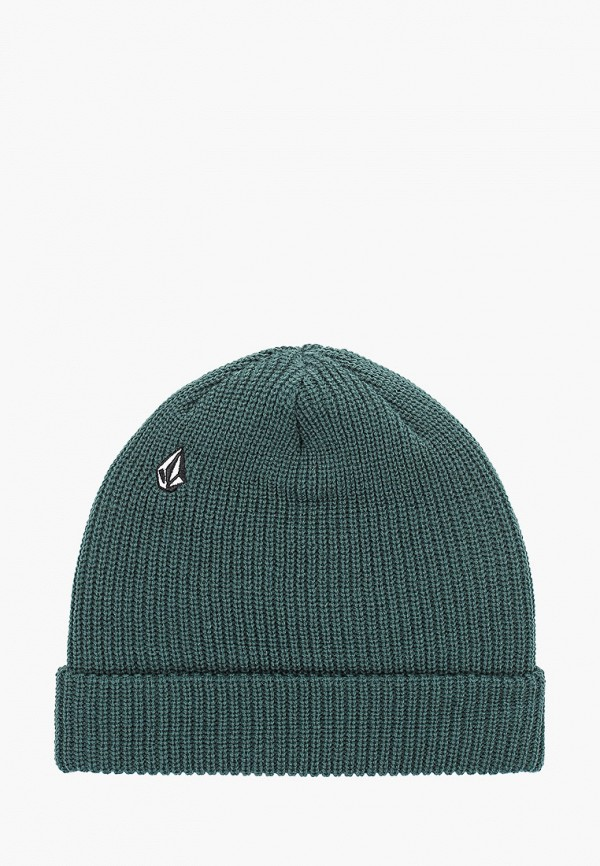женская шапка volcom, зеленая
