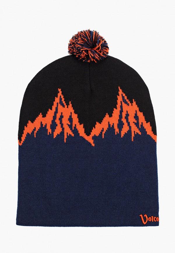 женская шапка volcom, разноцветная