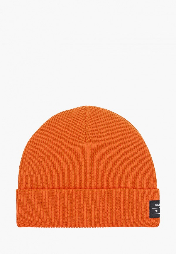 женская шапка volcom, оранжевая