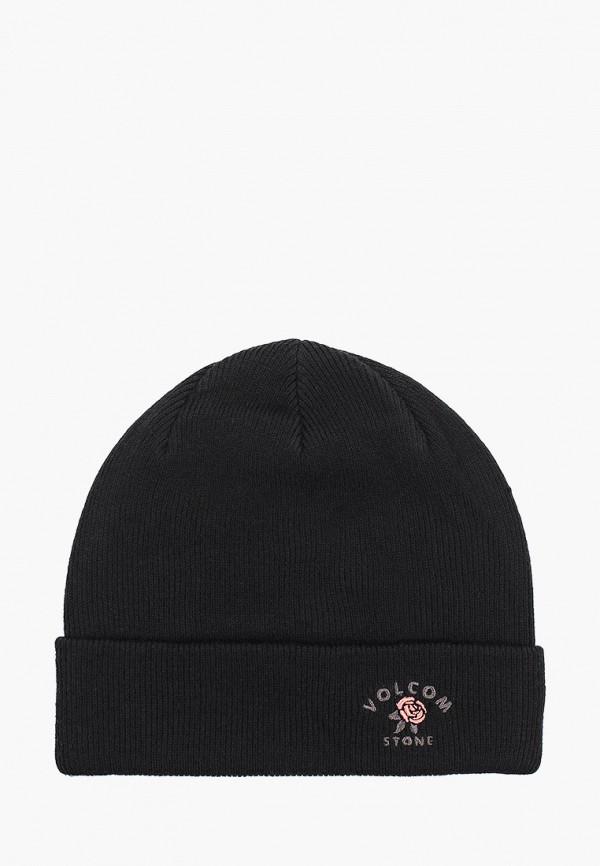 женская шапка volcom, черная