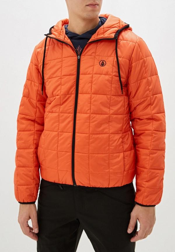 мужская куртка volcom, оранжевая