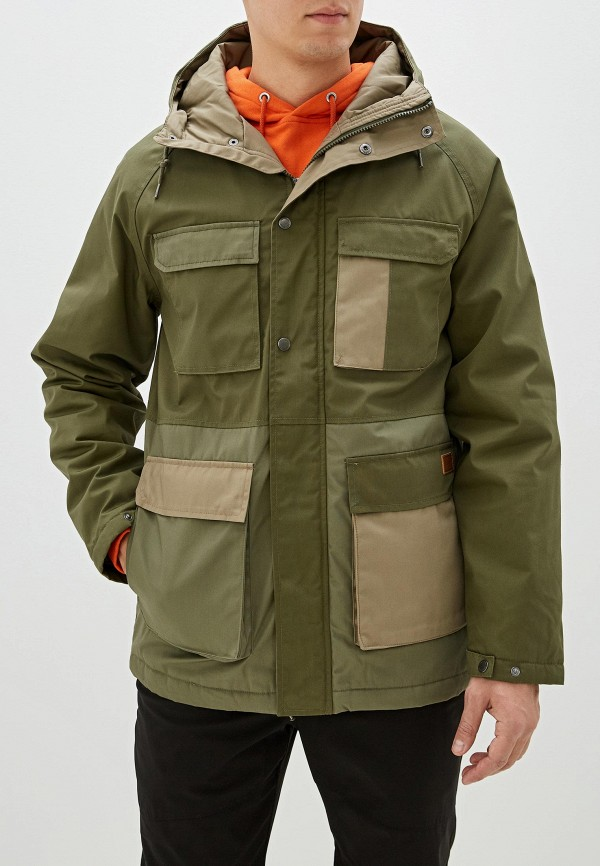 мужская куртка volcom, зеленая