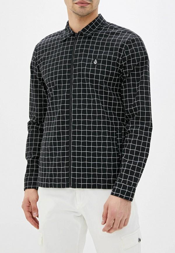 мужская рубашка volcom, черная