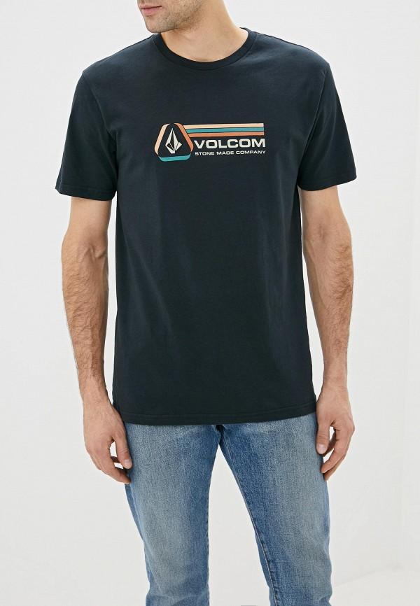 мужская спортивные футболка volcom, черная