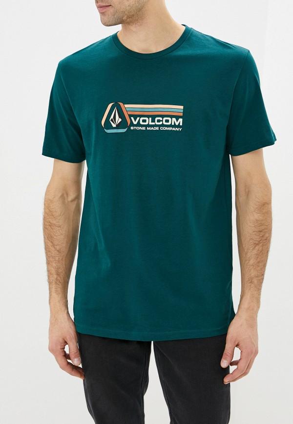 мужская спортивные футболка volcom, зеленая