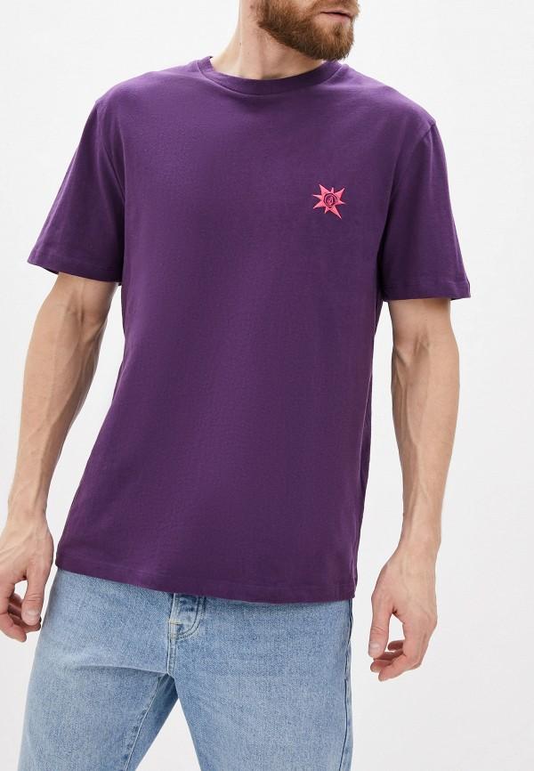 мужская спортивные футболка volcom, фиолетовая