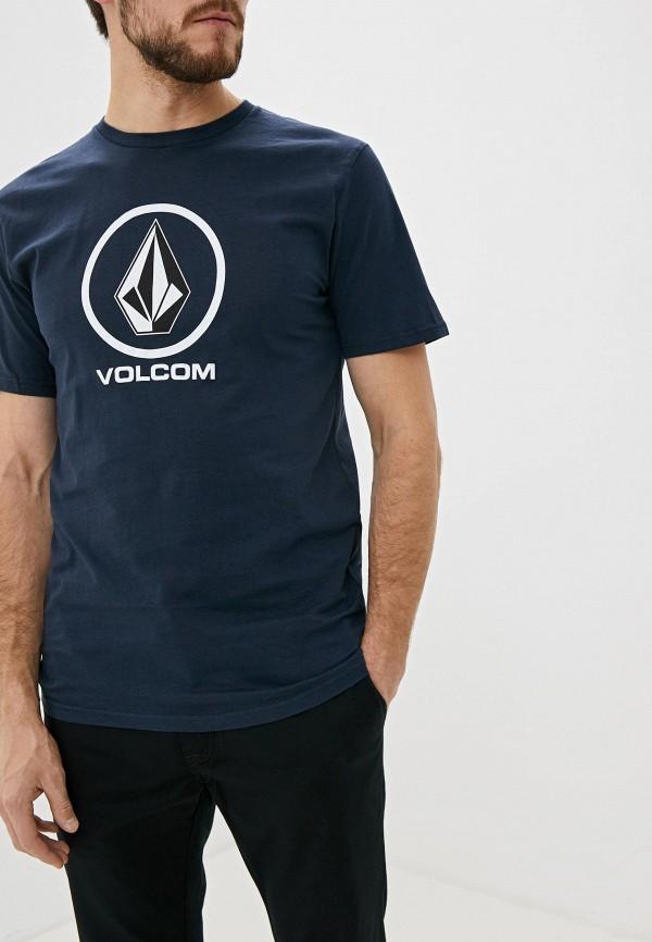 мужская спортивные футболка volcom, синяя