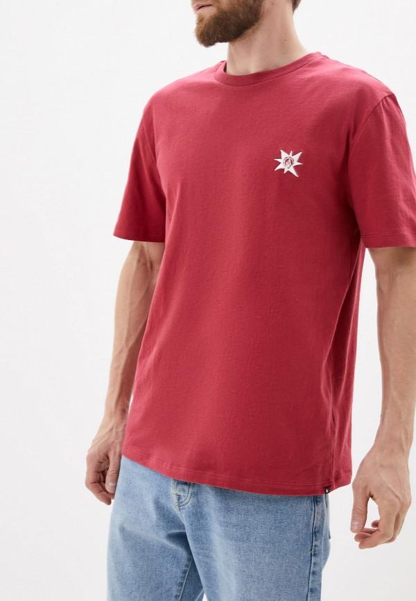 мужская спортивные футболка volcom, розовая