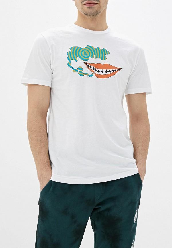 мужская спортивные футболка volcom, белая