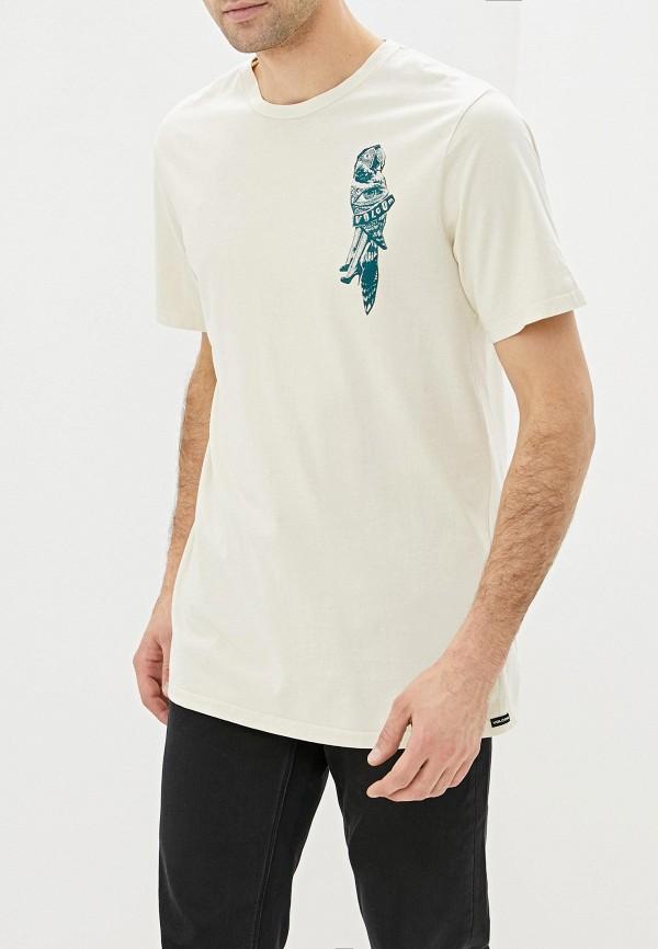 мужская спортивные футболка volcom, бежевая