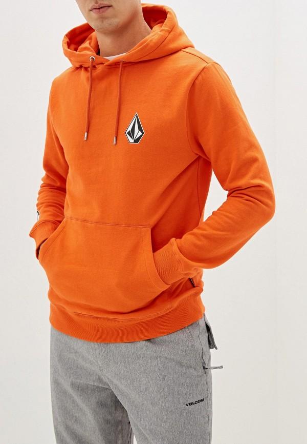 мужские худи volcom, оранжевые