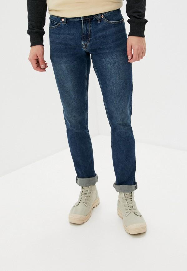 мужские зауженные джинсы volcom, синие