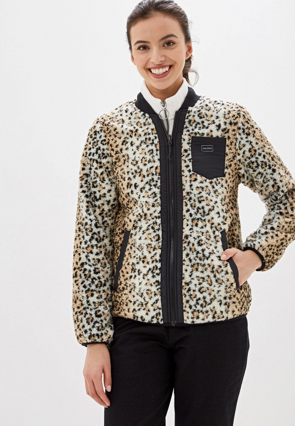 женская куртка volcom, разноцветная