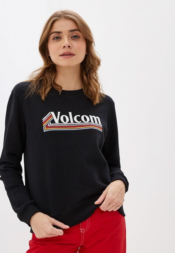 женский свитшот volcom, черный