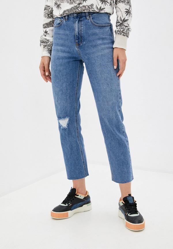 женские джинсы бойфренд volcom, голубые